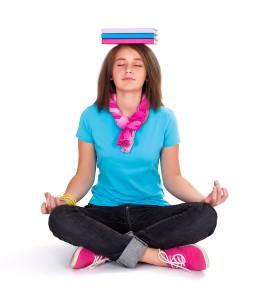 Girl Exercising Yoga