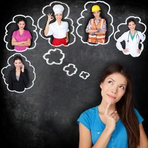 Asian girl student contemplating career choices