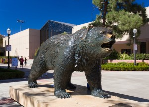 UCLS Bruin Bear Statue at UC Los Angeles campus